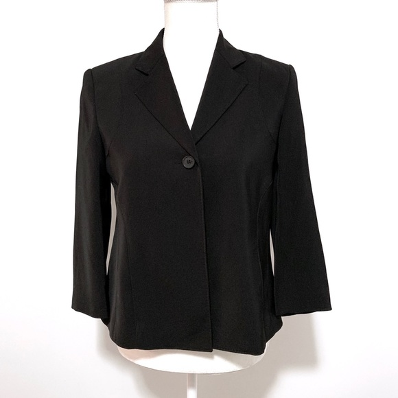 Anne Klein Jackets & Blazers - Anne Klein black stretch spandex suit blazer